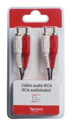 TMIU Câble audio Temium 2 RCA vers 2 RCA 1.5 m
