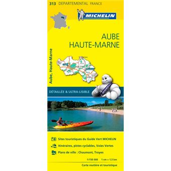 Carte aube haute marne michelin chelle 1 150 000 for Haute marne carte