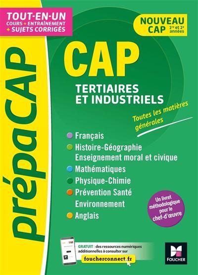 PrépaCAP - CAP Tertiaires et industriels - Matières générales Nouv. programmes-Révision entraînement - 9782216160754 - 11,99 €