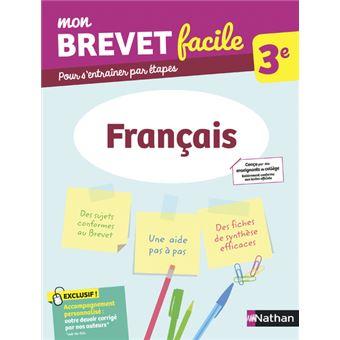 Mon Brevet Facile Epreuve De Francais 3eme