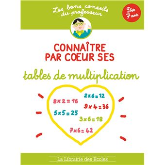 Connaitre par c ur ses tables de multiplication broch - Domino table de multiplication ...