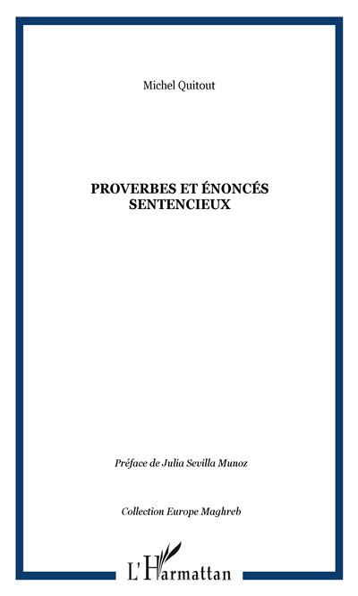 Proverbes et énoncés sentencieux