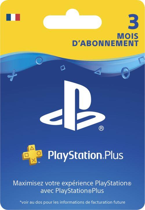 Sony Abonnement Playstation + 3 mois  Code de téléchargement