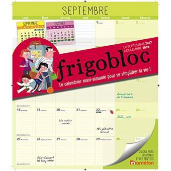 Frigobloc 2018 Calendrier Dorganisation Familiale Par Mois