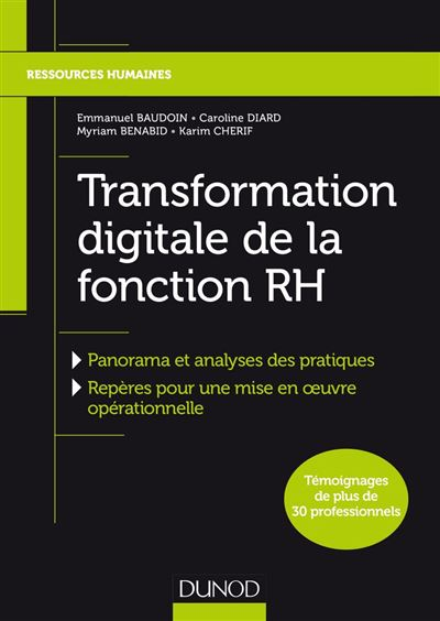 Transformation digitale de la fonction RH - 9782100787180 - 16,99 €