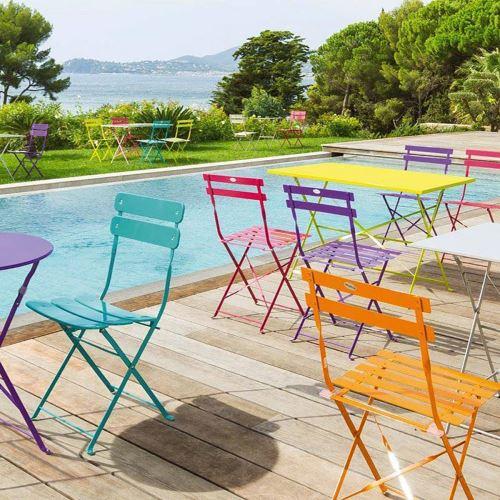 Lot de 2 chaises Hespéride Camargue Bleu Lagon