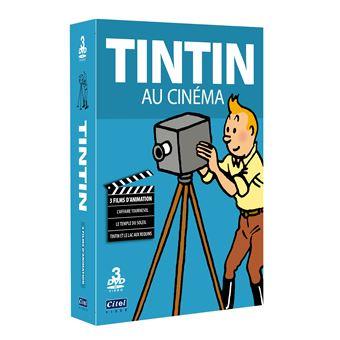 TintinCoffret Tintin fait son cinéma DVD