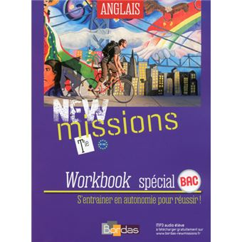 New Missions Anglais Tle 2016 Workbook Eleve
