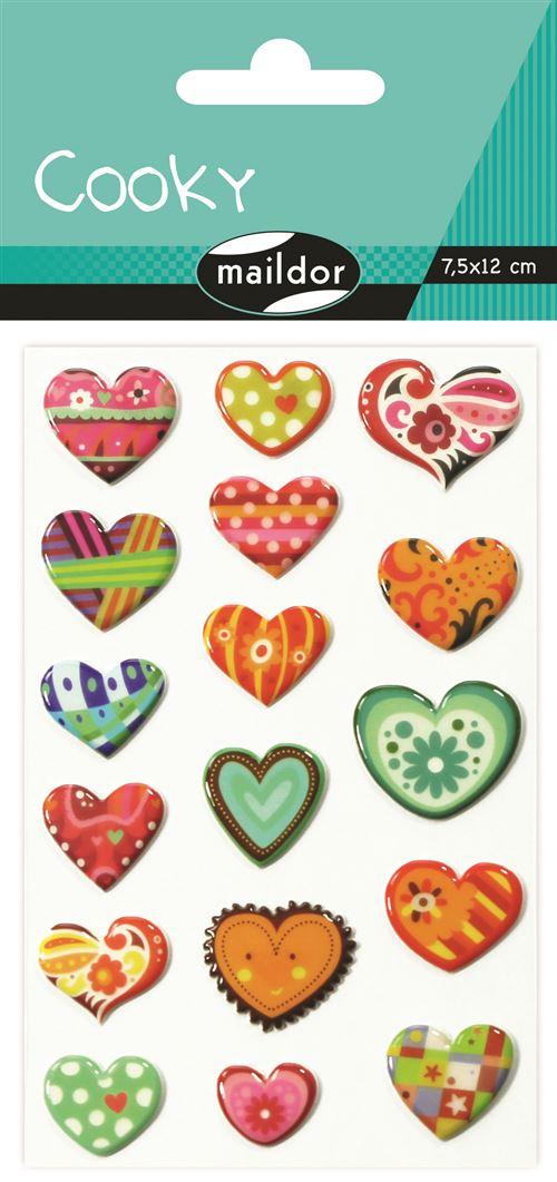 Planche à stickers Maildor Cooky Coeurs