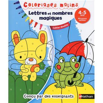 Coloriages malins Duo Lettres et nombres magiques MS