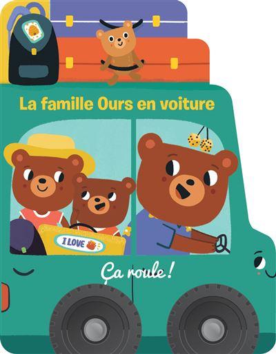 La famille ours en voiture