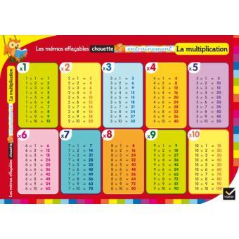 Les m mos effa ables la multiplication broch collectif achat livre fnac - Table de multiplication en ligne ...