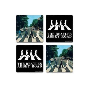THE BEATLES-4 COASTERS PACK-ABBEY ROAD