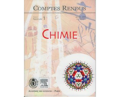 Comptes rendus academie des sciences chimie tome 8 fasc 1 ja