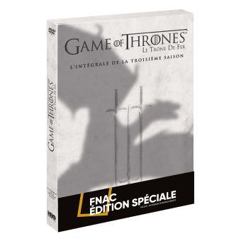 Le trône de ferGame of Thrones Saison 3 Edition Spéciale Fnac Limitée avec surétui Dragon Coffret DVD