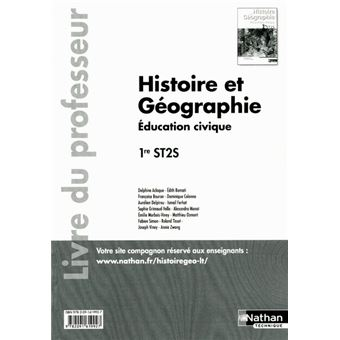 Histoire geographie 1ere st2s