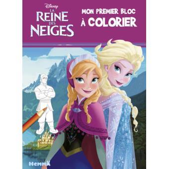 Livre Coloriage Reine Des Neiges.La Reine Des Neiges Disney La Reine Des Neiges Mon Premier Bloc A