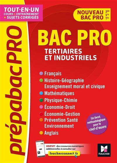 PrépabacPro - Bac Pro Tertiaires et industriels - Matières générales - Révision et entraînement - 9782216160822 - 11,99 €