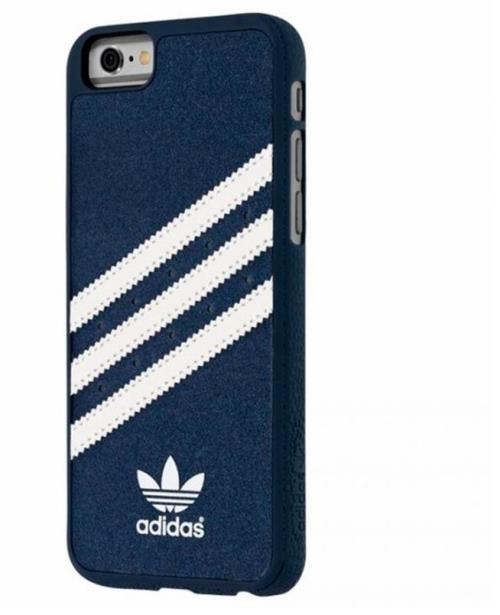 Coque Adidas Vintage pour iPhone 6 6s Bleu Blanc