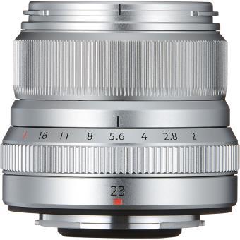 Objectif Hybride Fujifilm XF F:2 R WR 23 mm f/2-16 Asphérique Argent