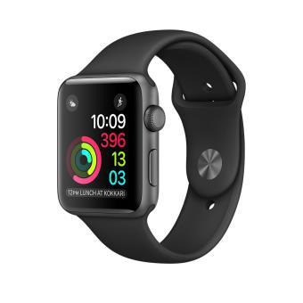 Apple Watch Series 1 42 mm Aluminium Space Grey met Sport band Zwart