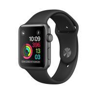 Apple Watch Series 1 42 mm Boîtier en Aluminium Gris Sidéral avec Bracelet Sport Noir