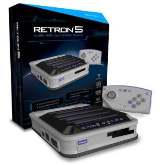 console hyperkin retron 5 grise console de jeux achat. Black Bedroom Furniture Sets. Home Design Ideas