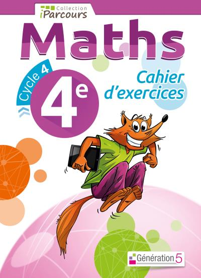 Iparcours Maths 4eme Cahier D Exercices Workbook Cycle 4 Nouveau Programme 2016 Broche Collectif Achat Livre Fnac