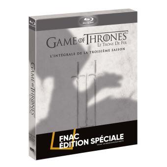 Le trône de ferCoffret intégral de la Saison 3 Blu-Ray - Edition Spéciale Fnac Limitée avec sur-étui Dragon