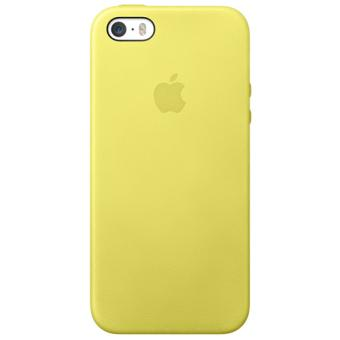 Coque Apple Case Cuir pour iPhone 5 5s Jaune