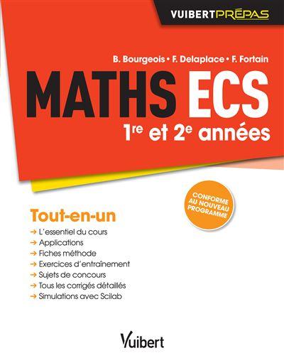 Maths ECS 1ère et 2ème années, Conforme au nouveau programme