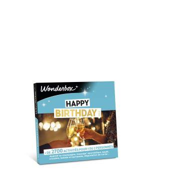 Coffret Cadeau Wonderbox Happy Birthday Gold