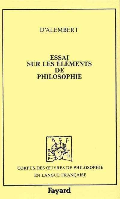 Essais sur les éléments de philosophie (1759)