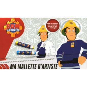 Sam Le Pompier Livre Avec 12 Coloriages 1 Planche De Pochoirs Et 4 Crayons Sam Le Pompier Ma Mallette D Artiste Maximilien Mao Boite Ou Accessoire Achat Livre Fnac