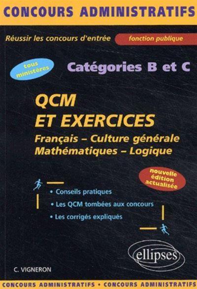 QCM et exercices catégories B et C