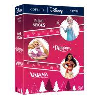 Coffret Vaiana, Reine des neiges et Raiponce DVD