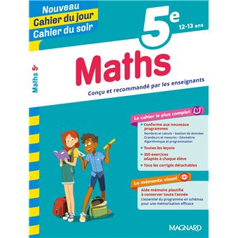 Cahier Du Jour Cahier Du Soir Maths 5e Broche Collectif Achat Livre Fnac