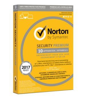 Norton Security 3.0 Premium 1 User 10 Devices 1 Year MIX