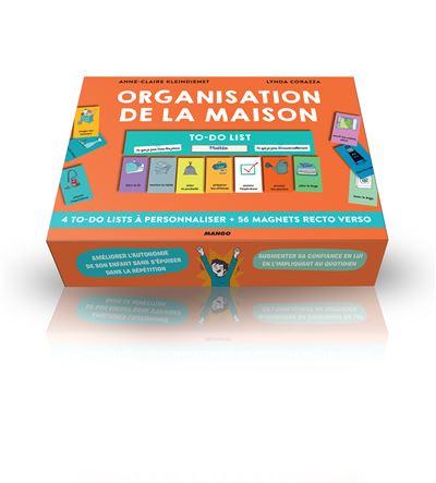 Organisation De La Maison 4 To Do Lists A Personnaliser Et 56 Magnets Recto Verso Broche Lynda Corazza Anne Claire Kleindienst Achat Livre Fnac