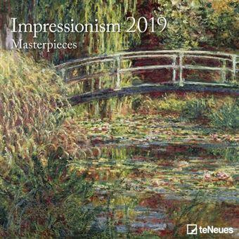 2019 Impressionism 30 X 30 Grid Calendar