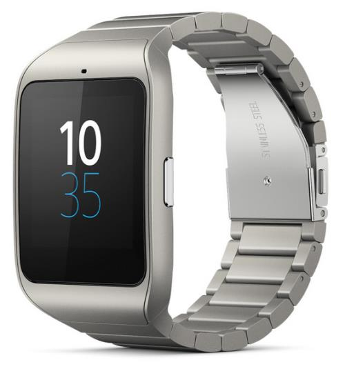 montre connectée sony smartwatch 3 bracelet métal argent - montre