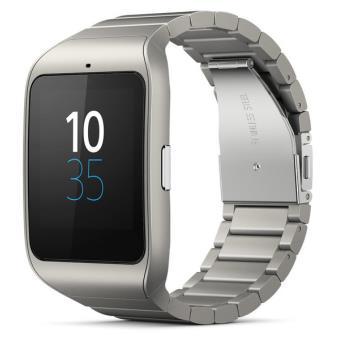 montre connect e sony smartwatch 3 bracelet m tal argent montre connect e. Black Bedroom Furniture Sets. Home Design Ideas