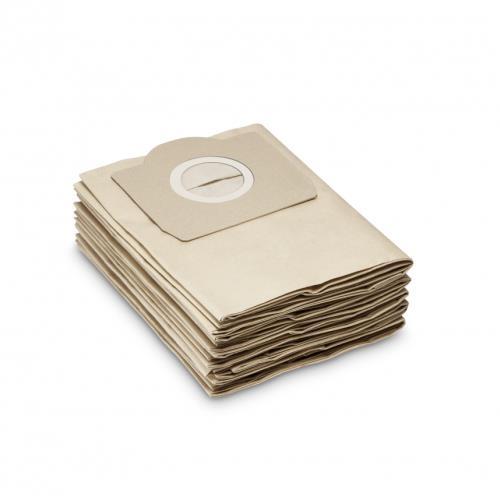 Sachet filtre en papier pour Kärcher WD3, WD3300 M, 3500 P, SE 4001, WD 3 P, WD 3 Premium 5 pièces