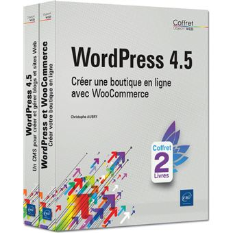 Carte Bleue Woocommerce.Wordpress 4 5 Coffret 2 Volumes Creer Une Boutique En Ligne Avec
