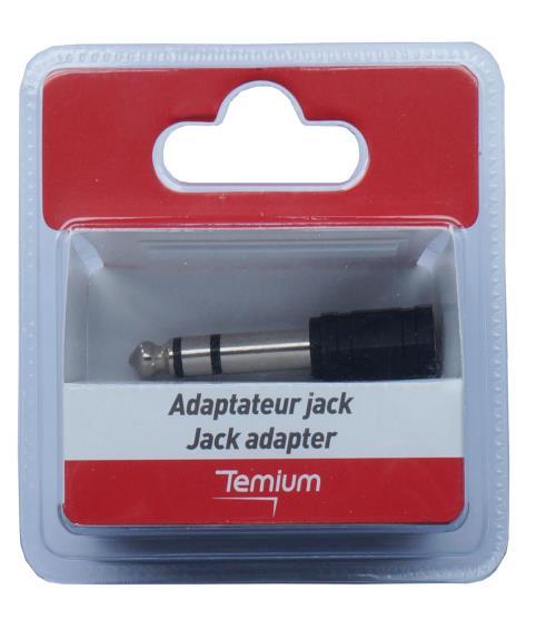 Adaptateur Temium Jack Femelle 6.35 m Noir