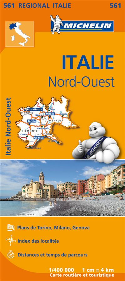 Carte Italie Nord Michelin.Carte Italie Nord Ouest Michelin