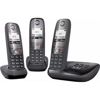 Gigaset A475A Trio Black - Telefoon met Antwoordapparaat