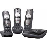 Gigaset A475A Trio Noir - Telephone avec Répondeur