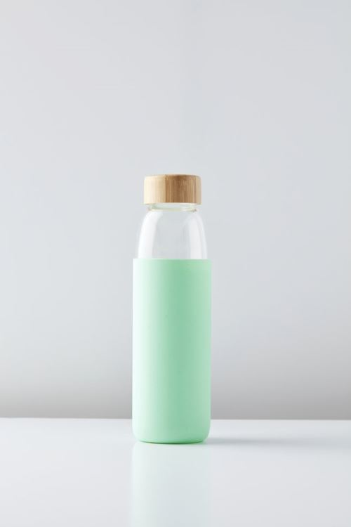 POINT-VIRGULE GLASS BOTTLE MINT GREEN 580ML