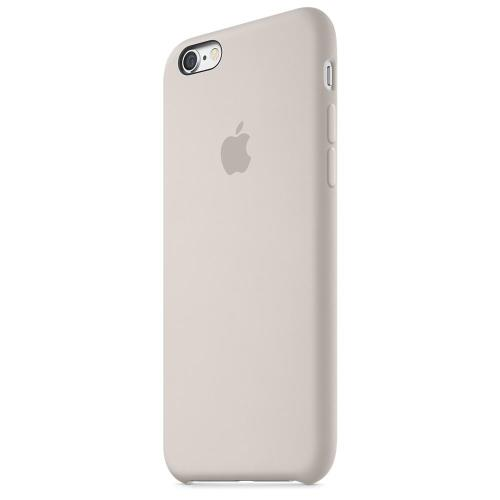 Coque Apple pour iPhone 6s en silicone Gris Sable
